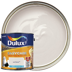 Dulux Easycare Washable & Tough - Just Walnut - Matt Emulsion Paint 2.5L