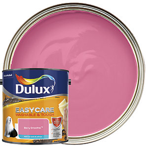 Dulux Easycare Washable & Tough Matt Emulsion Paint - Berry Smoothie 2.5L