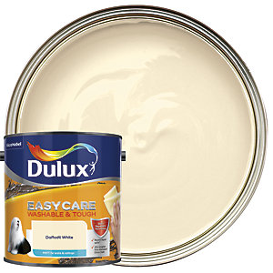 Dulux Easycare Washable & Tough Matt Emulsion Paint - Daffodil White 2.5L