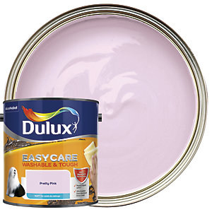 Dulux Easycare Washable & Tough Matt Emulsion Paint - Pretty Pink 2.5L