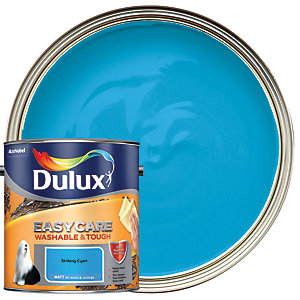 Dulux Easycare Washable & Tough Matt Emulsion Paint - Striking Cyan 2.5L
