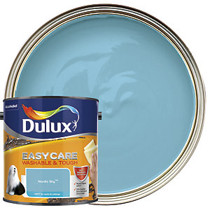 Dulux Easycare Washable & Tough - Nordic Sky - Matt Emulsion Paint 2.5L