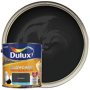 Dulux Easycare Washable & Tough - Rich Black - Matt Emulsion Paint 2.5L