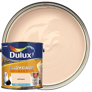 Dulux Easycare Washable & Tough - Soft Peach - Matt Emulsion Paint 2.5L