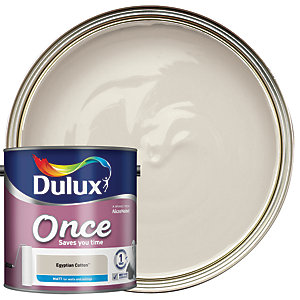 Dulux - Egyptian Cotton - Once Matt Emulsion Paint 2.5L
