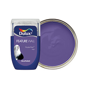 Dulux Feature Wall Paint Tester Pot - Purple Pout 30ml