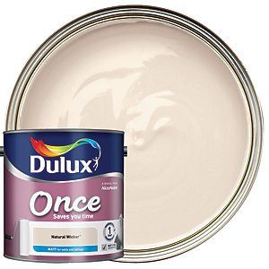 Dulux - Natural Wicker - Once Matt Emulsion Paint 2.5L