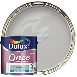 Dulux Once Matt Emulsion Paint - Chic Shadow 2.5L