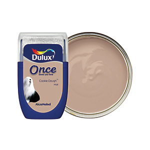 Dulux Once Paint Tester Pot - Cookie Dough 30ml