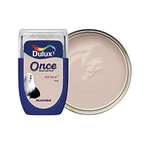 Dulux Once Paint Tester Pot - Soft Stone 30ml