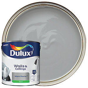 Dulux Silk Emulsion Paint - Warm Pewter 2.5L