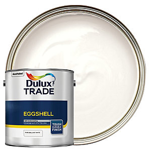 Dulux Trade Eggshell Emulsion Paint - Pure Brilliant White 2.5L