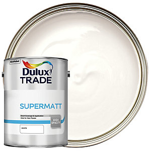 Dulux Trade Supermatt Emulsion Paint White 5L