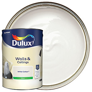Dulux - White Cotton - Silk Emulsion Paint 5L