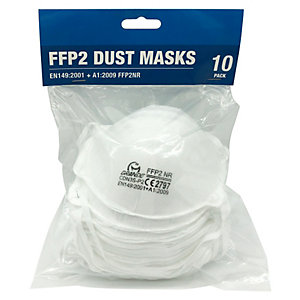 Grande FFP2 Sanding and Insulation Dust Masks - Pack of 10