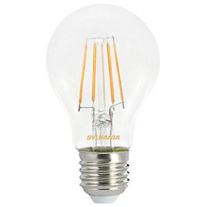 Sylvania LED GLS Non Dimmable Clear Filament Bulb - 4.5W E27 470lm