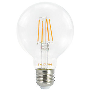 Sylvania LED Non Dimmable Clear Filament Globe Bulb - 4.5W E27 470lm