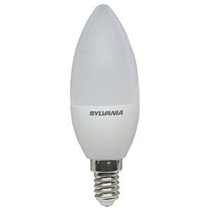 Sylvania LED Non Dimmable Frosted Candle E14 Light Bulb - 5.5W