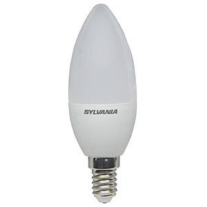Sylvania LED Non Dimmable Frosted E14 Candle Light Bulbs - 5W Pack of 4