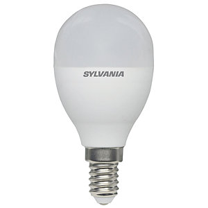 Sylvania LED Non Dimmable Frosted Mini Globe E14 Light Bulb - 8W