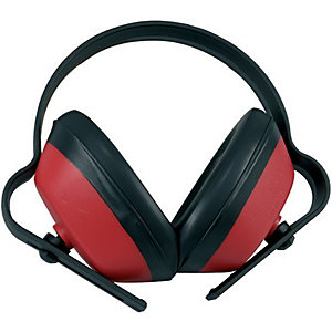 Wickes Adjustable Ear Defenders Red