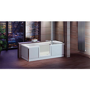 Wickes Style Right Hand Easy Access Bath - 1700 x 700mm