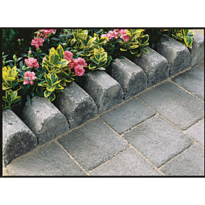 Marshalls Drivesett 4 in 1 Textured Kerb Stone - Pennant Grey 100 x 100 x 200mm Pack of 240