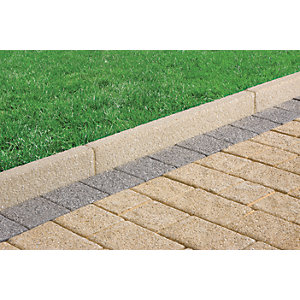 Marshalls Drivesett Argent Coarse Edging Stone - Natural 63 x 150 x 915mm Pack of 48