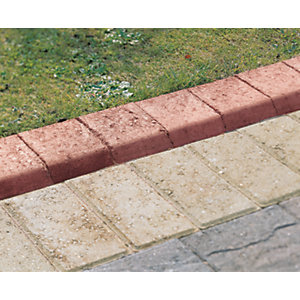 Marshalls Keykerb Bullnosed Smooth Edging - Red 125 x 127mm