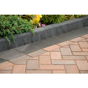 Marshalls Keykerb Smooth Edging Stone Pack - Brindle 70 x 127 x 200mm 7.2m