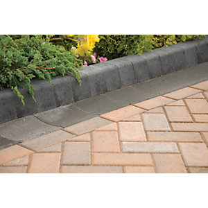 Marshalls Keykerb Smooth Edging Stone Pack - Charcoal 125 x 127mm 37.8m2
