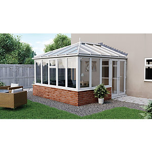 Euramax Edwardian Glass Roof Dwarf Wall Conservatory - 13 x 15 ft