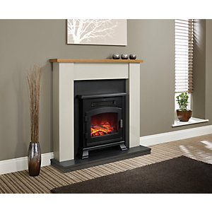 Be Modern Ravensdale Timber Top Electric Fire Suite