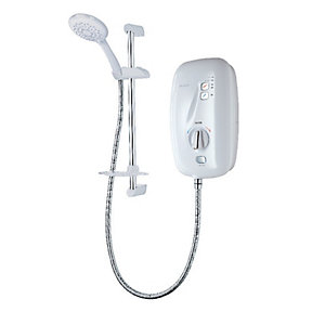 Triton Sensation Thermostatic Electric Shower - White 9.5kW