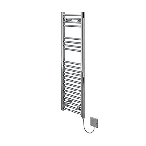 Kudox Flat Electric Towel Radiator - Chrome 300 x 1100 mm