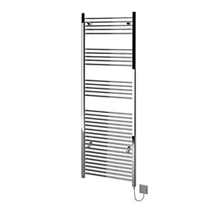 Kudox Flat Electric Towel Radiator - Chrome 600 x 1800 mm