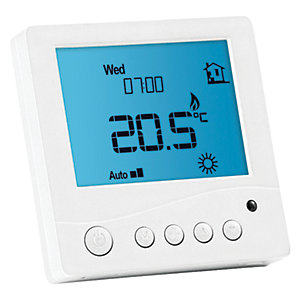 Prowarm Programmable Digital Room Thermostat - White