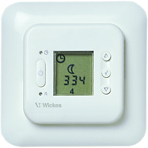 Wickes Digital White Programmable Floor Probe Thermostat