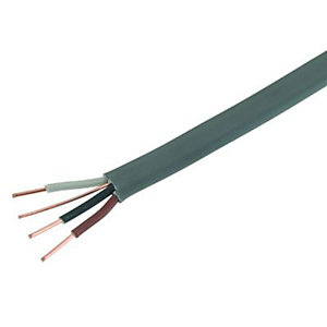 Wickes 3 Core & Earth Cable - Grey 1.5mm2 x 16.5m