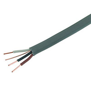 Wickes 3 Core & Earth Cable - Grey 1.5mm2 x 50m