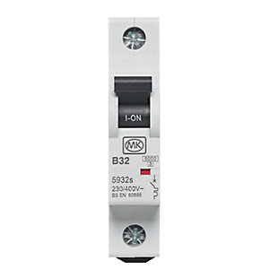 MK Miniature Circuit Breaker (MCB) Single Pole Type B - 32A 6KA