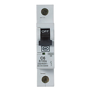 MK Miniature Circuit Breaker (MCB) Single Pole Type C - 6A 230V C6