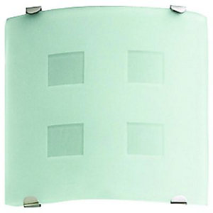 Wickes Decorative Glass Extractor Fan & Light with Timer - 100mm