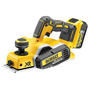 DeWalt DCP580P2 18V 82mm Brushless Cordless Li-Ion Planer with 2 x 5.0Ah Batteries & Carry Case