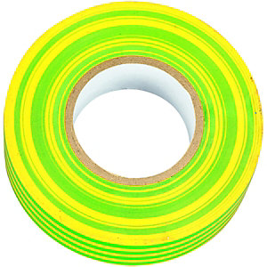 Wickes Electrical Insulation Tape - Green & Yellow 20m