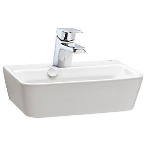 Wickes Emma 1 Tap Hole Wall Hung Square Basin - 420mm
