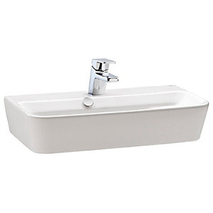 Wickes Emma 1 Tap Hole Wall Hung Square Basin - 500mm