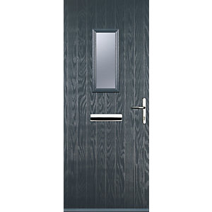 Euramax 1 Square Grey Left Hand Composite Door