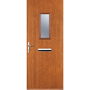 Euramax 1 Square Oak Right Hand Composite Door