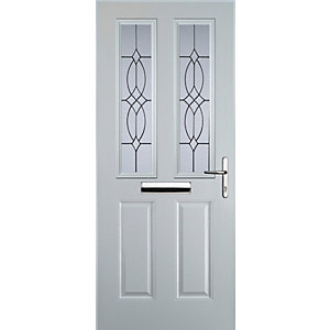 Euramax 2 Panel 2 Square White Left Hand Composite Door